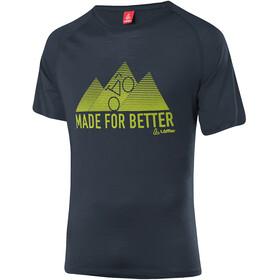 Löffler Merino Tencel T-Shirt Men, zwart/groen